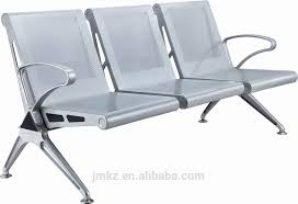 durable public stainless steel airport chair