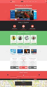 one page website template motion single page psd web template for free download free