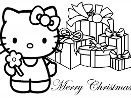 Christmas Coloring Pages Hello Kitty | Coloring Page for Kids