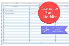Excel Checklist Excel Interactive Blank Checklist Task List To
