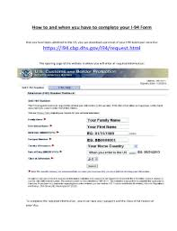 i 94 form to print fillable online ccusa how to fill out the i 94 form ccusa fax
