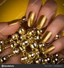 Zlaté Nehty Manikúra Stock Fotografie Gyurma 178240578