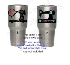 Custom Vinyl Decal Sewing Machine Decals Great For Rtic Yeti Similar Style Cups Lap Top Computers Car Windows Tumblers Etc