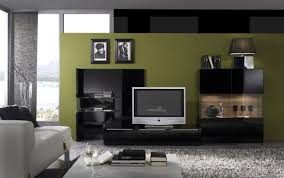 gloss black modern entertainment wall unit w glass shelves crtv