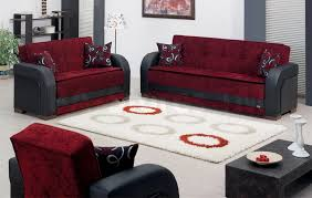 Living Room Sofas And Loveseats Sale 165800 Paterson 3 Pc Black And Burgundy Sofa Set Sofa
