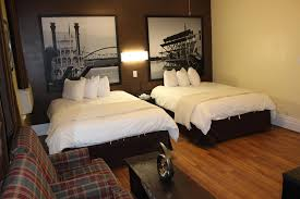 a bed or beds in a room at koreana in decorah