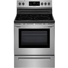 frigidaire smooth surface freestanding 5 element 5 4 cu ft self cleaning electric range