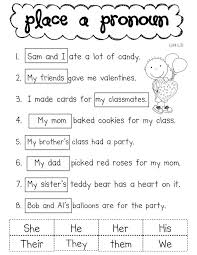 Pronoun Worksheet 1St Grade Worksheets for all | Download and ...