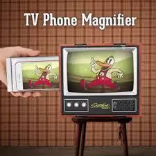 Retro Tv Online Retro Tv Phone Magnifier Vintage Foldable Stand Phone Holder Cardboard Mount