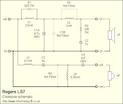 rogers loudspeakers \u203a ls7 Mb Quart Crossover Wiring Diagram ls7 crossover schematic MB Quart Crossover Installation