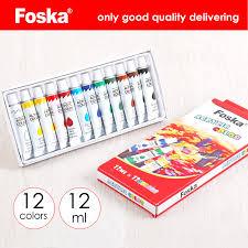 China Foska Hot High Quality <b>12 PCS</b> Drawing Tube Artist <b>Acrylic</b> ...