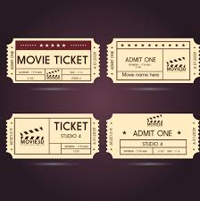 Style Templates Movie Ticket Templates Classical Horizontal Style Free
