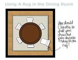rug under dining table