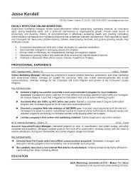 Sample Healthcare Marketing Resume Sample Marketing Resume Examples