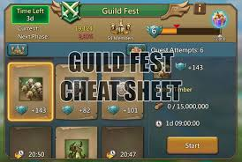 Guild Fest Cheat Sheet Lords Mobile Guides