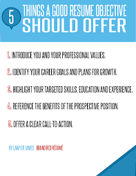 5 Things A Good Resume Objective Should Offer Poster Brandred Resume