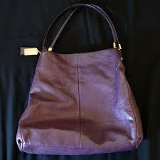 COACH Plum Madison Phoebe Large Shoulder Bag