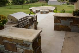 fireplaces fire pits matching stonework fire pit and outdoor kitchen