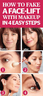 makeup tips to make you look younger fake a face lift with makeup in