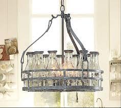 image of beer bottle chandelier glass