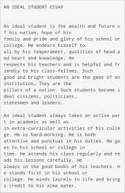an ideal student 200 words for cl 6