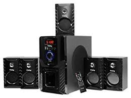 sound system amazon. frisby fs-5000bt 5.1 surround sound home theater speakers system with bluetooth usb/sd amazon e