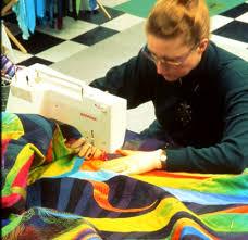 Machine Quilting: Managing a Large Quilt Sandwich on a standard ... & Machine Quilting: Managing a Large Quilt Sandwich on a standard size sewing  machine Adamdwight.com