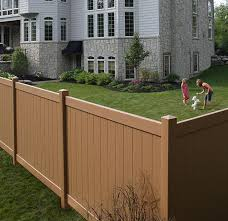 brown vinyl fence. Color Options For Chesterfield CertaGrain Vinyl Fences Brown Fence Discount Supply