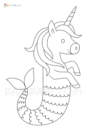 You can print your coloring pages at home on any paper you choose! Unicorn Mermaid Coloring Pages New Free Coloring Pages