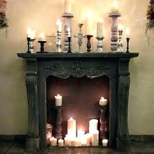 candles inside fireplace fireplace candle decor fireplace candle decor amazing decorative fireplace candle holders decorative fireplace