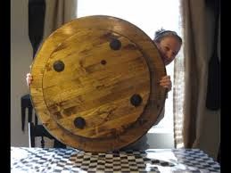how to make a large wood lazy susan