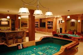 game room lighting. hockeyinspired game room you can have your own casino at the home lighting