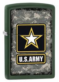 <b>Зажигалка ZIPPO US Army</b>, латунь с покрытием Green Matte ...