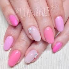 4色のピンクカラーを使った春満開ジェルネイルデザイン若葉台駅近く
