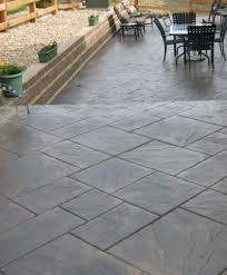 stamped concrete patio cost stamped