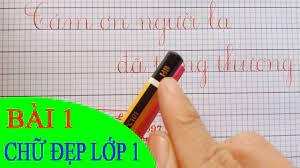 LUYỆN VIẾT CHỮ ĐẸP LỚP 1 - Bài 1: Chuẩn bị bút, vở, mực như thế nào? -  YouTube