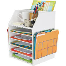 really good teacher s desktop organizer with paper holders