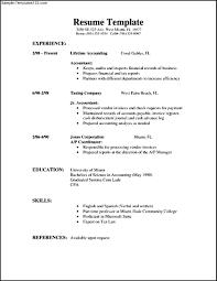 Simple Resume Format In Word File Free Download Free Resume
