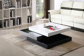 Coffee Table Design Ideas Fabulous Leather White Sofa Plus Modern Square Tiered Coffee Table Design Feat Rectangle Living Room Rug