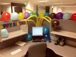office decoration themes. Design Ideas, Grey Swivelchair L Shaped Workbench Baloon Themes Ideas For Celebrating In Modern Office Decoration I
