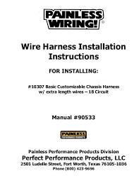 8 circuit universal remote mount modular harness painless wiring