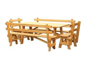 wood picnic table with detached benches pine wood outdoor picnic table detached benches wood picnic table