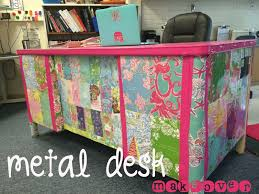 a metal desk makeover