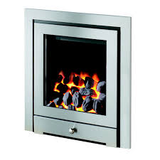 montana royale high efficiency gas fire in chrome