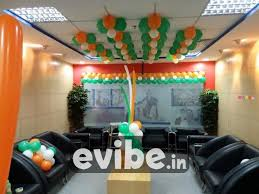 Best Independence Theme Balloon Decor For Office Birthday