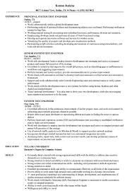 Test Engineer Resume Objective Sample Testngineer Resume Best Software Senior Qtp Automation Test