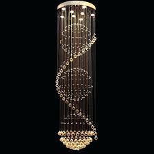 floor chandelier simple double staircase lamp circular chandelier floor living room hall villa long crystal floor chandelier crystal