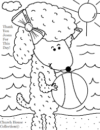 Small Picture Sheep With Beach Ball Summer Coloring Page