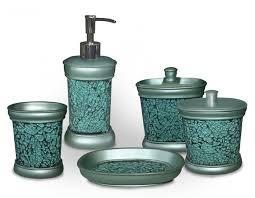 BATHROOM WARE  TEAL BLUE VANITY BATHROOM SET  Any Occassion Aqua Colored Bathroom Accessories