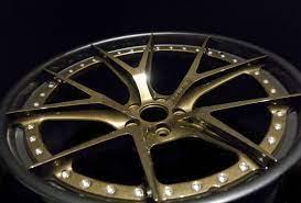 Prismatic Powders Bronze Chrome With Sterling Black On This Wheel Rim Prismaticpowders Powdercoating Customwheel Coatedrim